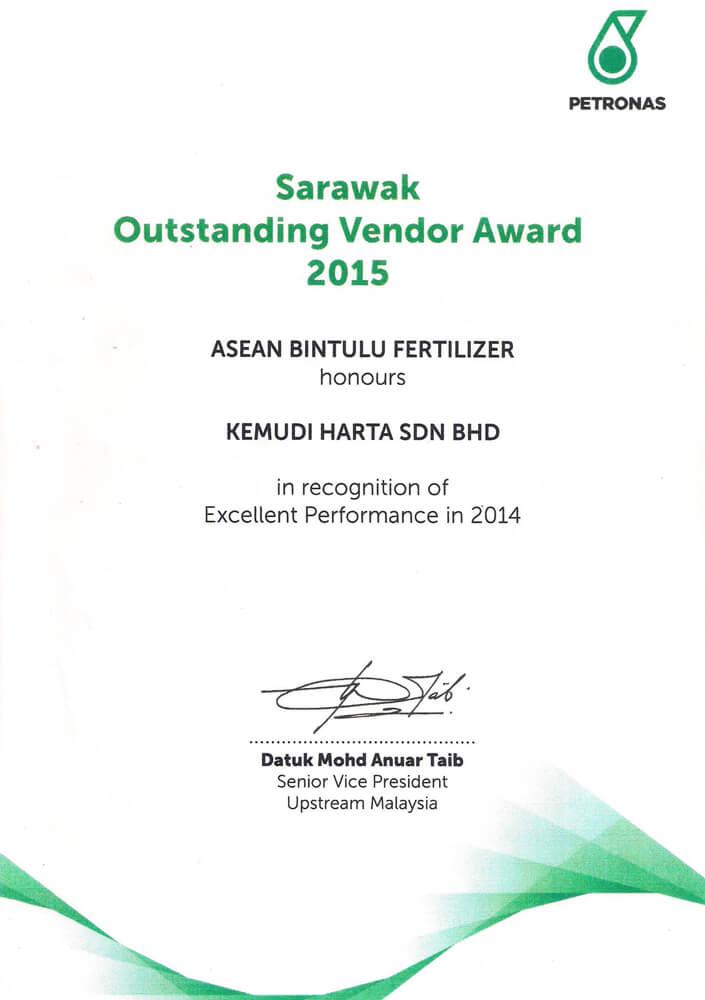 Sarawak Outstanding Vendor Award 2015